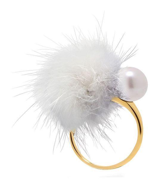 Ring CHEEK White  #Misaki #jewelry #pearls #jewel