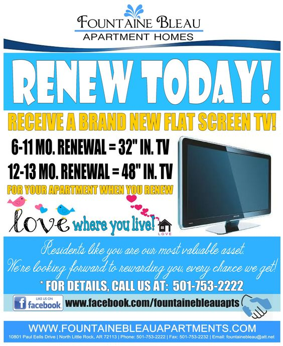 lease renewal flyer i made for our residents bonnie rose