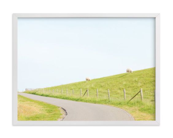 """A Woolly Path"" - Art Print by Alexandra Feo in beautiful frame options and a variety of sizes."