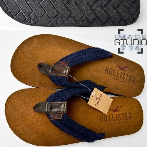 Hollister by Abercrombie Mens Suede Flip Flops