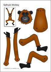 split pin monkey pinned by super simple songs. Black Bedroom Furniture Sets. Home Design Ideas