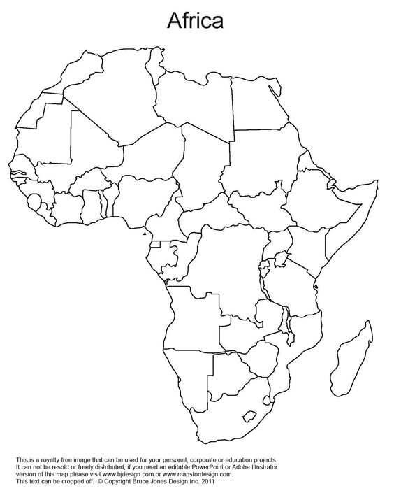 Printables Africa Map Outline printable map of africa world regional blank outline royalty
