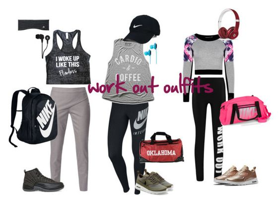 """work out oulfits"" by mariel00915 on Polyvore featuring Boohoo, WtR London, NIKE, Beats by Dr. Dre, Nike Golf, adidas, Skullcandy and SOL Republic"