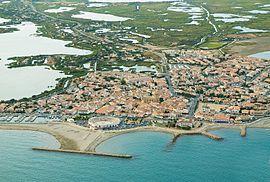 Aerial view of Saintes-Maries-de-la-Mer