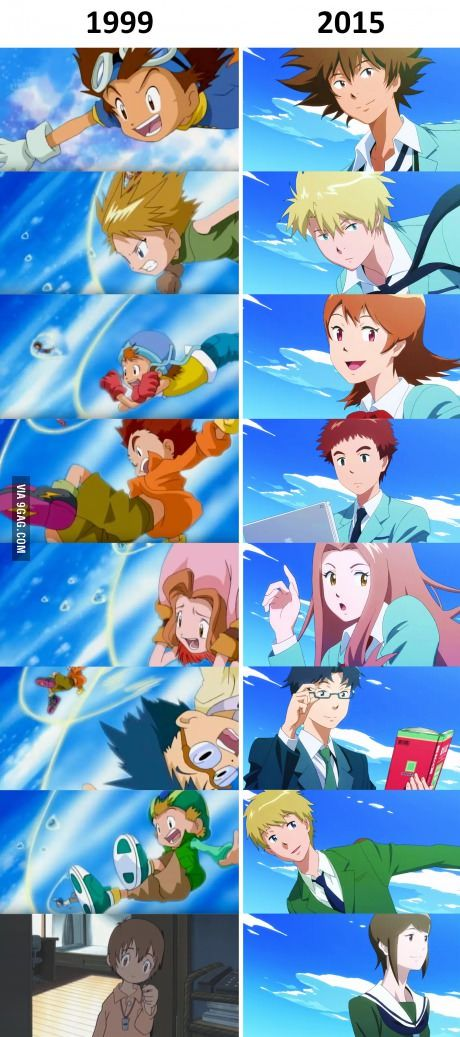 Digimon Adventure Tri.  Then and Now