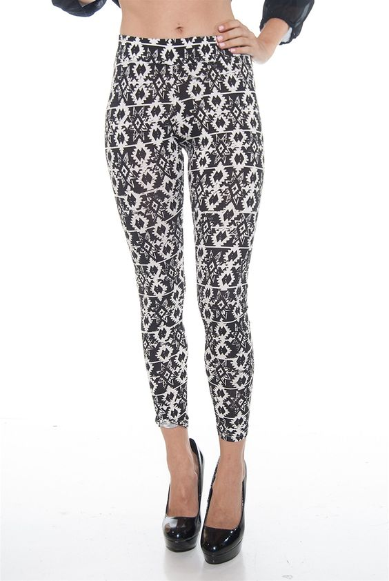 Fun Print High Waist Ankle Length Leggings - Houndstooth from 8 of Hearts at Lucky 21