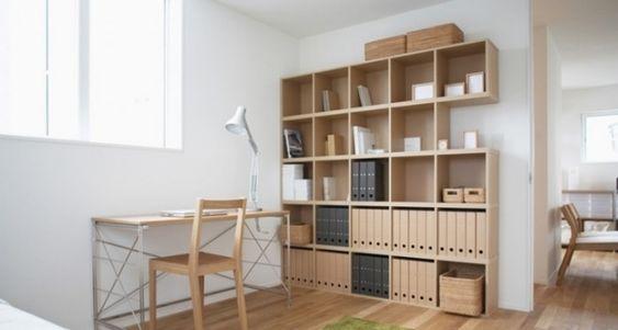 bureau à domicile de style japonais minimaliste