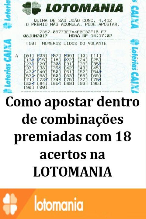 Lotomania Gerador De Combinacoes Premiadas Com Imagens