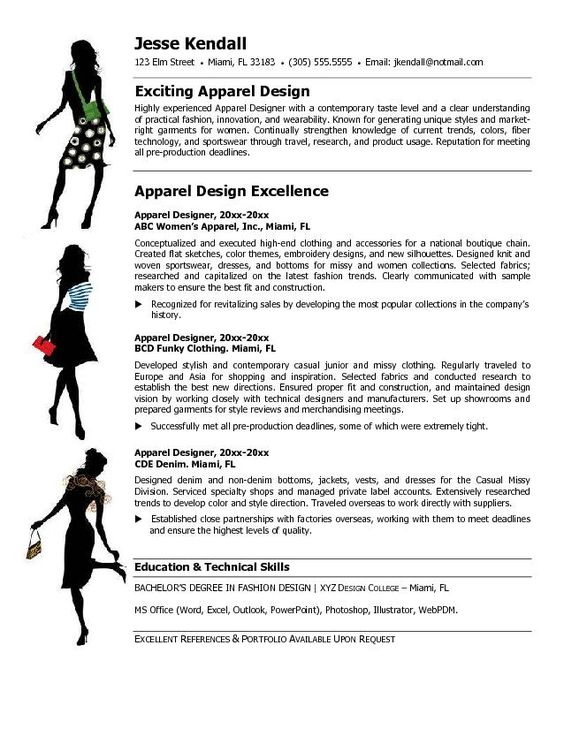 Fashion Stylist Resume Objective