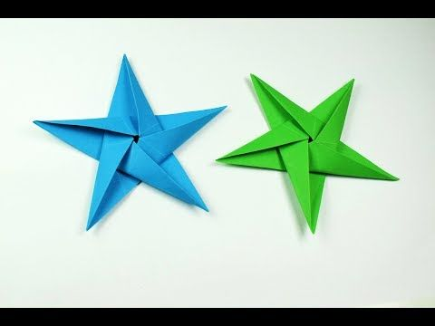 How to make a paper Star? - YouTube (With images) | Origami stars ... | 360x480