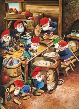 2013 Vintage Christmas Cards and Illustrations: Santa's Elves