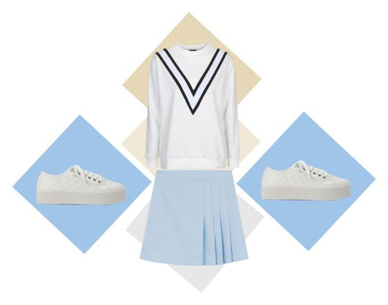 """Kang Mo Yeon inspired #ootd"" by jodygarcia on Polyvore featuring Topshop"