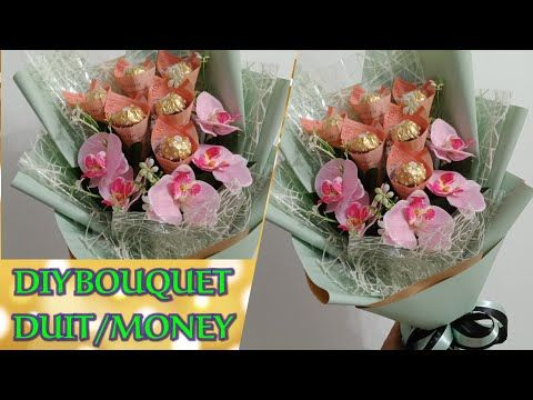Money Bouquet Chocolate Ferrero Rocher Cara Buat Bouquet Duit Chocolate Tutorial Bouquet Duit Youtube Ferrero Rocher Bunga