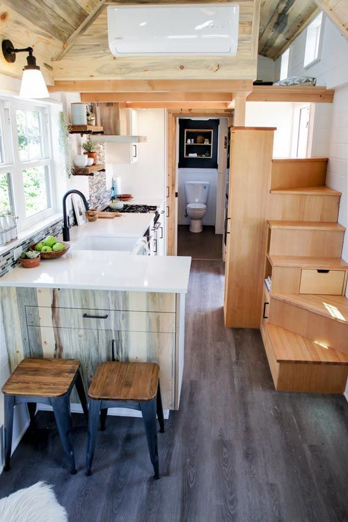 Enjoy A Colorful Life In Your Home Make The Kitchen A Joyful Sight To Watch Complete Your Tiny House Kitchen Modern Tiny House House Design Kitchen