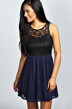 Abbie Lace Tutu Skater Dress at boohoo.com