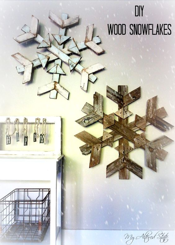 Wooden Snowflake Decor