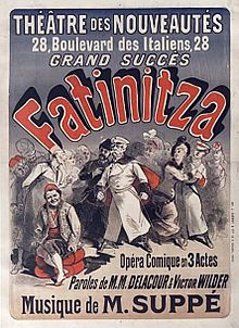 Suppe's Fatinitza - 1879 French poster.