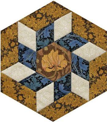 Barbara Brackman's MATERIAL CULTURE: Morris Hexathon 14: Canterbury