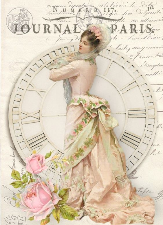 Vintage woman  digital collage p1022 Free for personal  use <3: