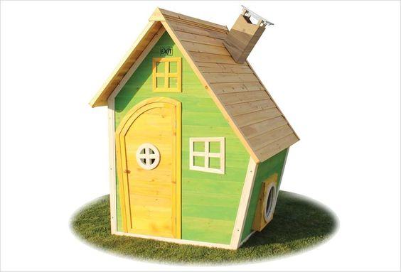 Maison en bois pour enfant Fantasia 100 Rose Exit Toys cabane - Maisonnette En Bois Avec Bac A Sable