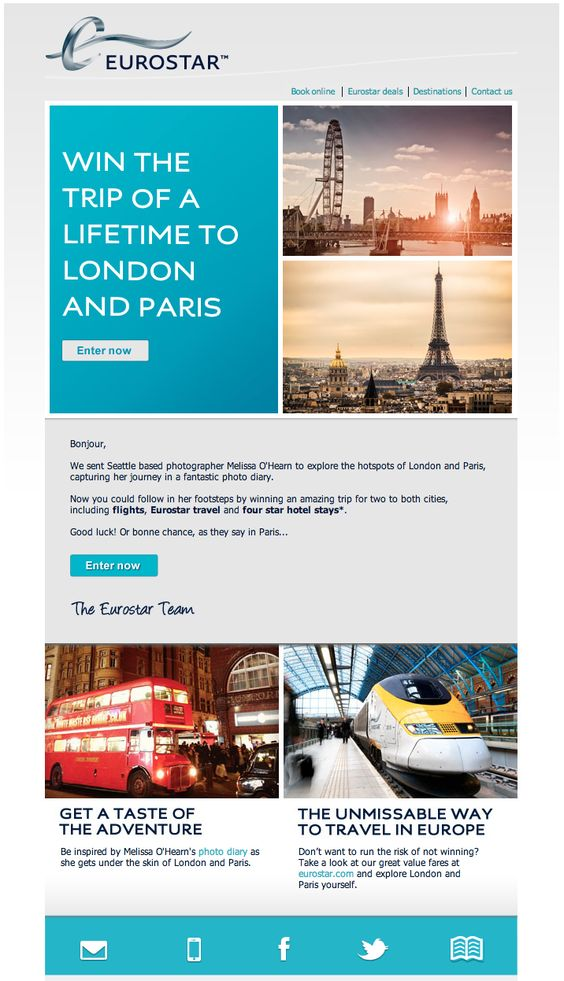 Trips beautiful and email marketing design on pinterest for Beautiful newsletter design