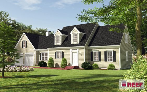 Computer rendering of new home cape cod homes for Cape cod model homes