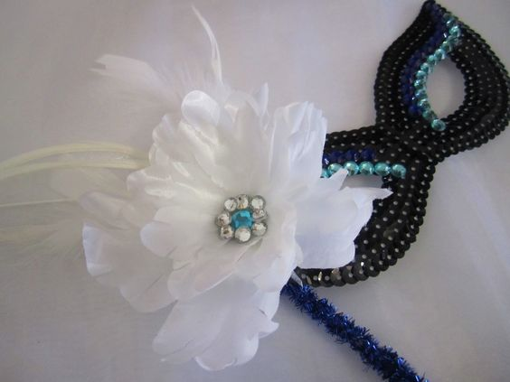 masquerade favors; design by Davis Floral Creations