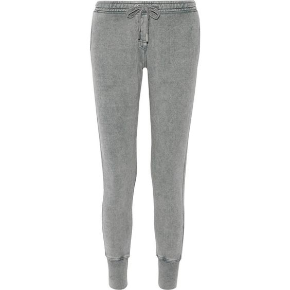 Zoe Karssen Cotton-blend jersey track pants ($69) ❤ liked on Polyvore featuring activewear, activewear pants, grey, track pants and zoe karssen