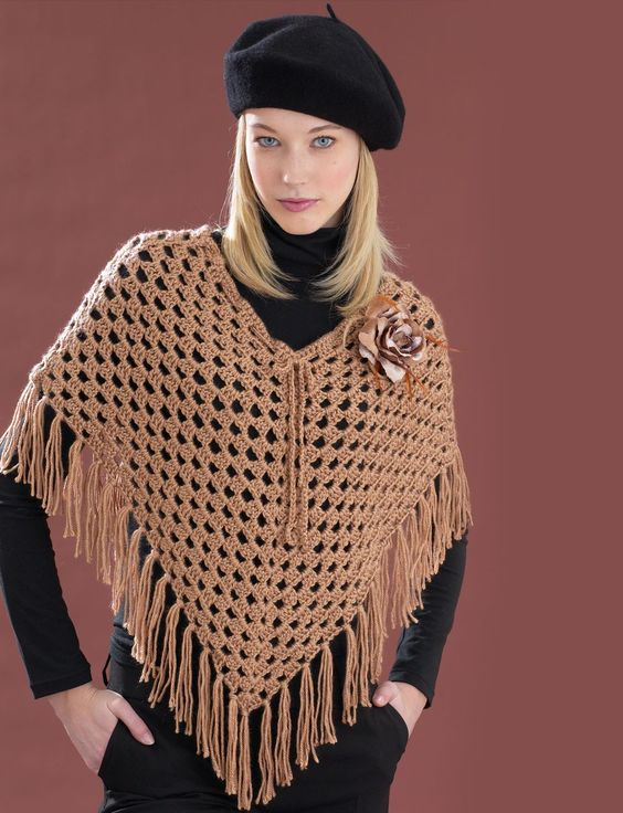 Free Crochet Pattern Poncho With Sleeves : Ponchos, Poncho patterns and Free crochet on Pinterest