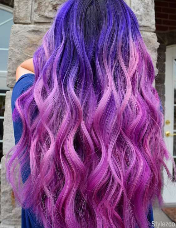 Perfect Pink Blue Hair Color Combination For Blonde Girls In 2018 Popular Hair Color Bold Hair Color Blue Mermaid Hair