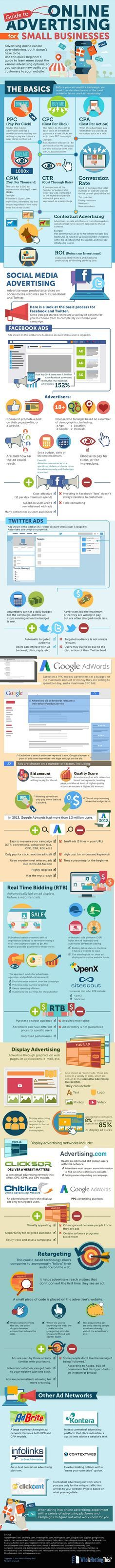 Guide To #OnlineAdvertising For Small Businesses - #Socialmediamarketing #infografía