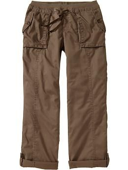 Women's Ribbed-Waist Roll-Up Pants | Old Navy (The MOST ...