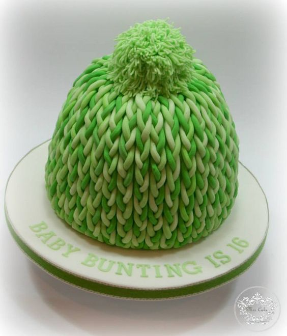 Love this woolly bobble hat cake by Mrs Cake, from my home town Burton on Trent.