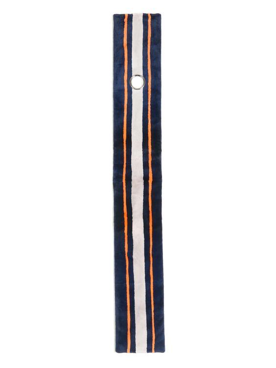 Striped mink scarf | Balenciaga | MATCHESFASHION.COM AU