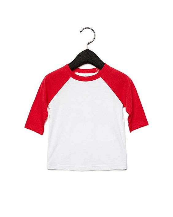 Amazon.com: Bella + Canvas - Toddler Three-Quarter Sleeve Baseball Tee - 3200T: Clothing