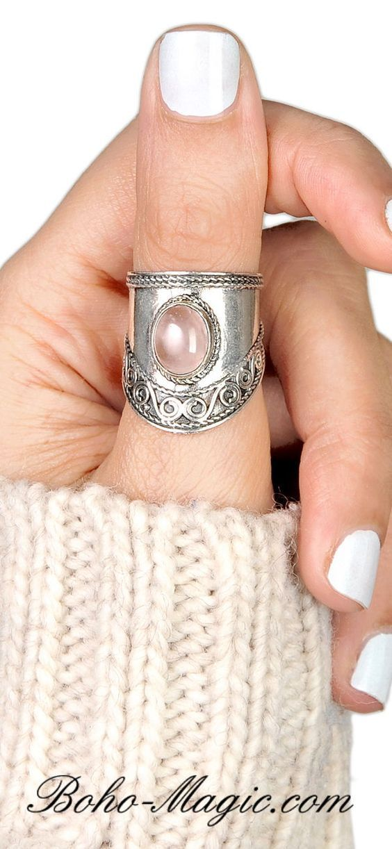 sterling silver stretch rings stacking rings rose quartz TWO RING OFFER 925