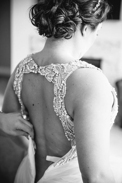 Beaded Hayley Paige Wedding Dress // Peach + Cornflower Blue Historic Rice Mill Charleston Wedding // Dana Cubbage Weddings // Charleston SC Wedding Photography