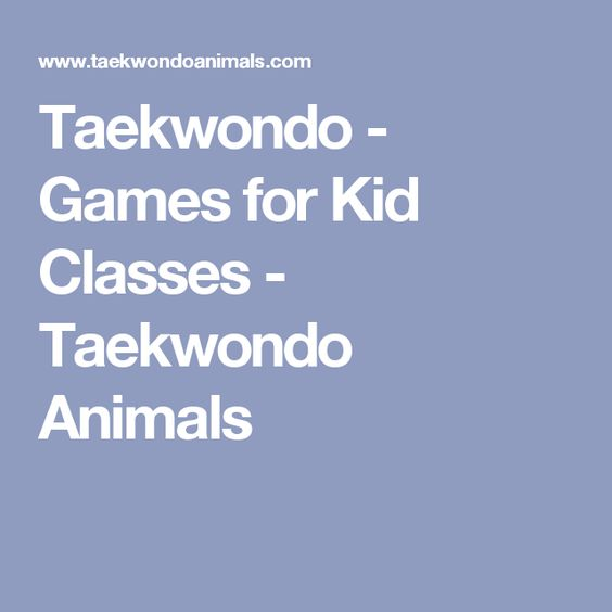 Taekwondo - Games for Kid Classes - Taekwondo Animals