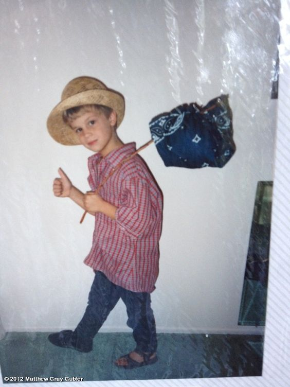 Matthew Gray Gubler's photo: 6 year old me about to go on an adventure