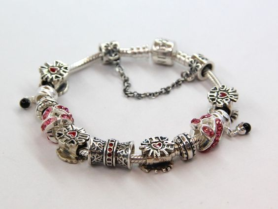 Sterling Silver Spring Summer Autumn Winter Charms Bracelets