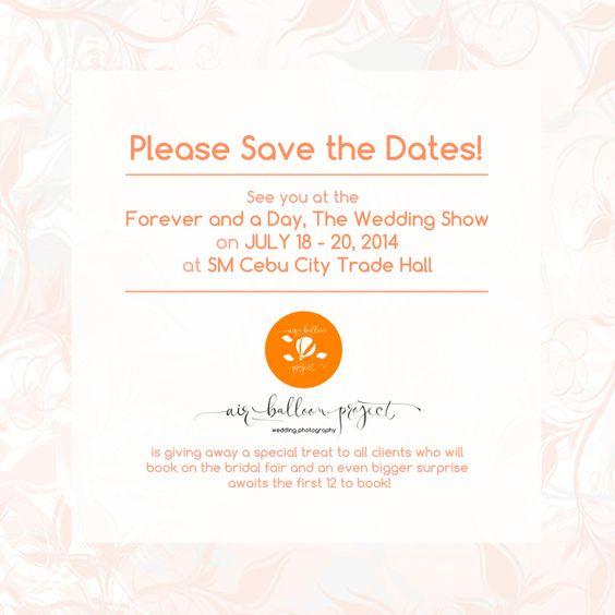Save the Dates! bridal fair.