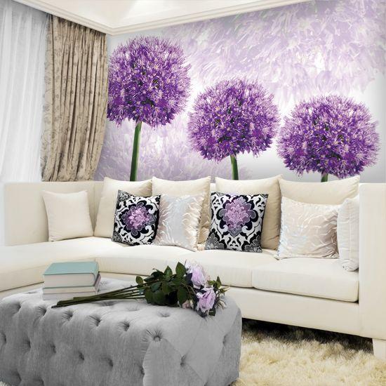 Fototapeta Trzy Fioletowe Kwiaty Czosnku Home Decor Decor Home