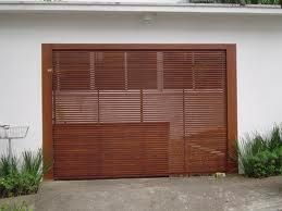 portão da garagem de madeira vazada - Pesquisa Google