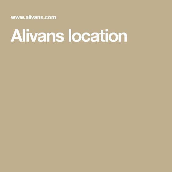 Alivans location