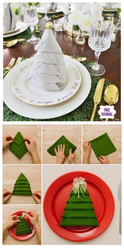 Christmas Tree Napkin Fold | Martha Stewart | 1000x500
