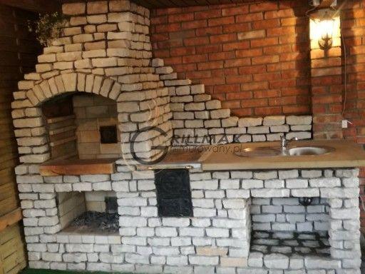 Grill Murowany Gril Ogrodowy Piaskowiec Altana 5999077156 Oficjalne Archiwum Allegro Brick Grill Outdoor Kitchen Design Argentine Grill