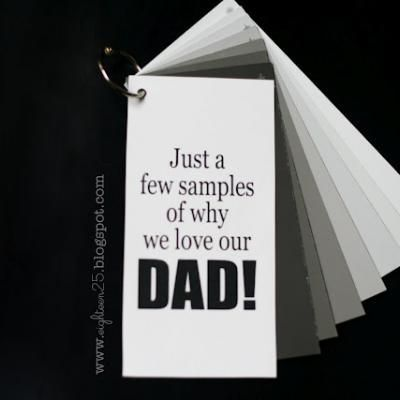 Paint Sample Book for Dad {Crafts}