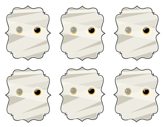 Five Fun Downloadable Halloween Gift Tag Templates