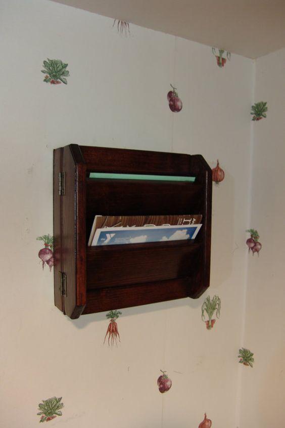 11h Hidden Key Box & Mail Organizer by WindyWoodsWoodcraft on Etsy