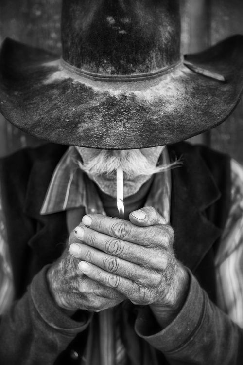 Black N White Cowboy Photography Western Photography